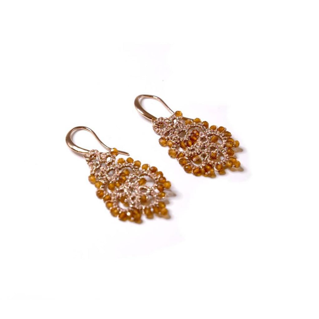 Lace Earrings: Mandarin Dora