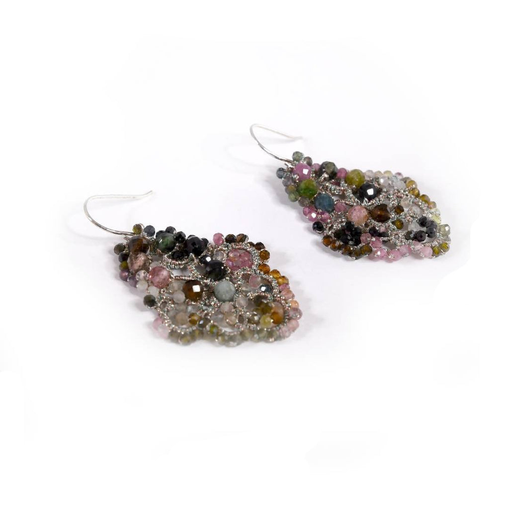 Lace Earrings: Tourmaline Anica