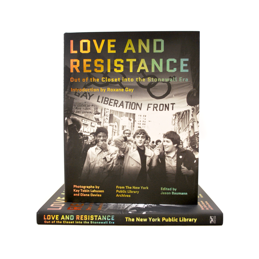 Cover featuring a black and white picture related to Stonewall. Title of book is multi-colored on black background.
