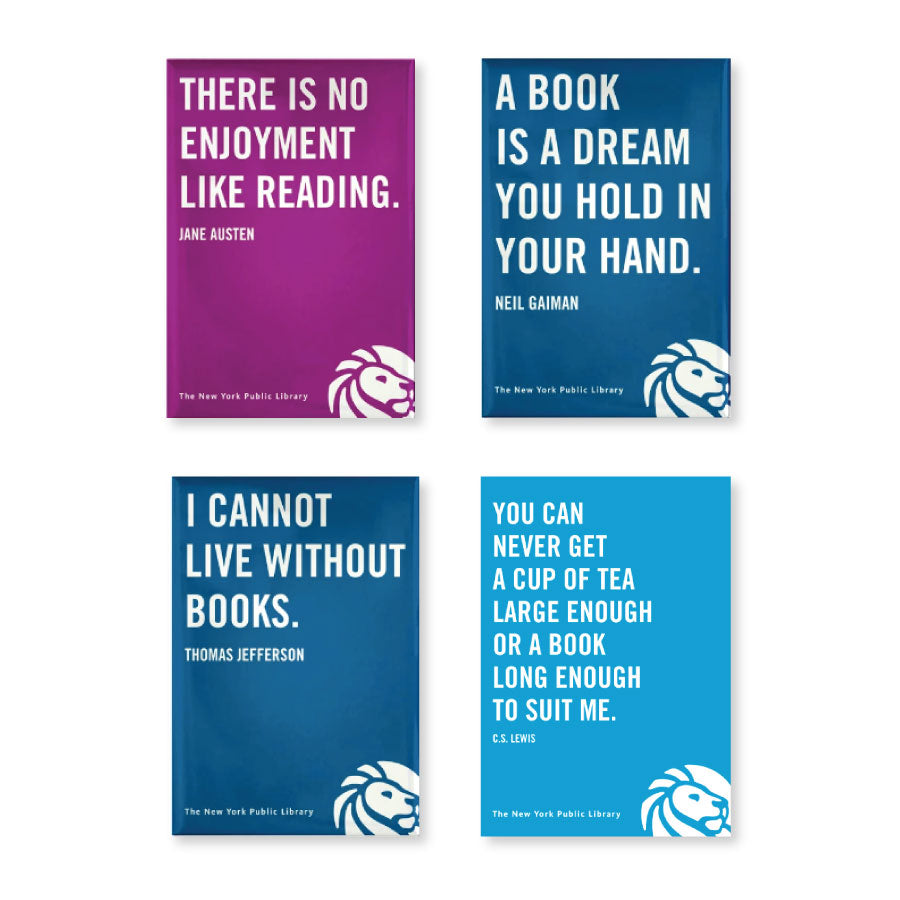 NYPL Book Lover Quotes Magnet Set