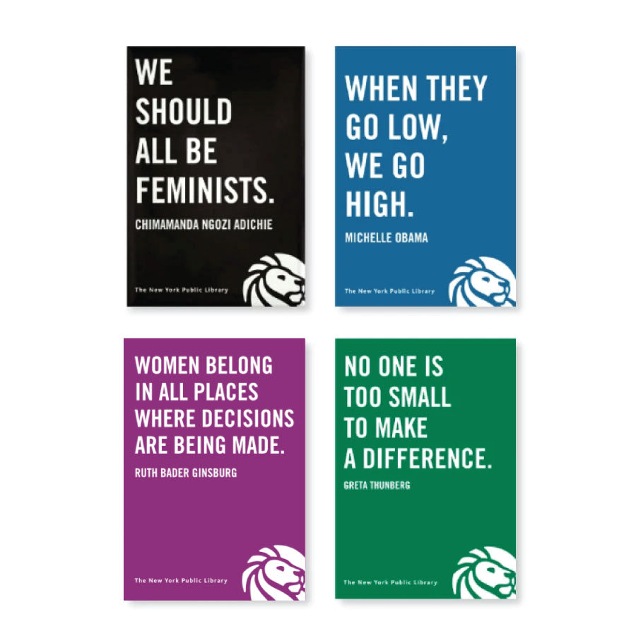 NYPL Strong Women Quotes Magnet Set