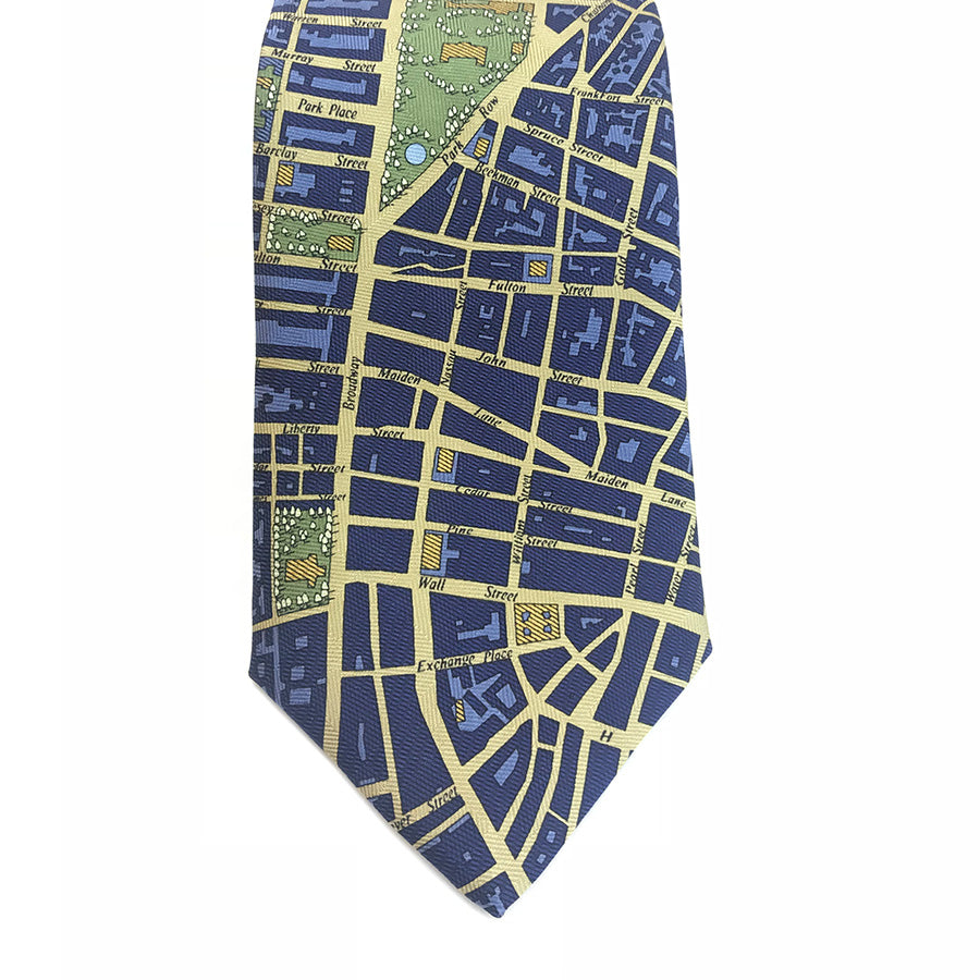 New York City Map Tie - The New York Public Library Shop