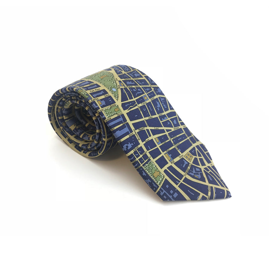 New York City Map Tie