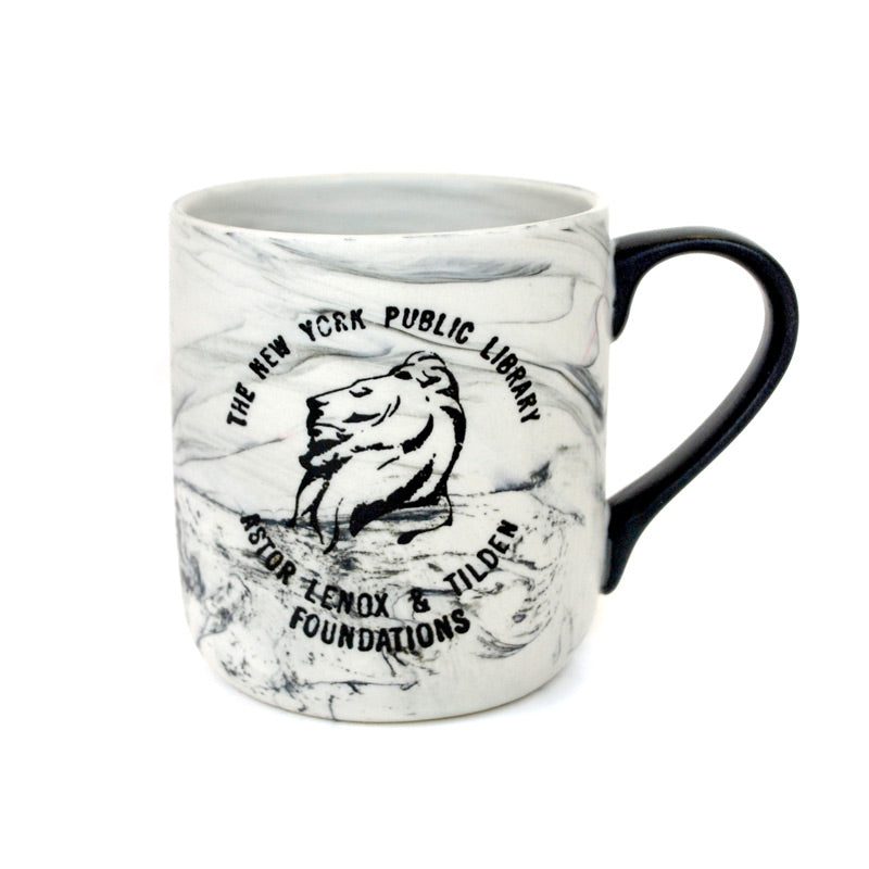 Marbleized NYPL Mug - The New York Public Library Shop