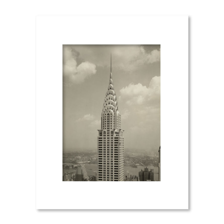 Chrysler Building Spire Matted Print