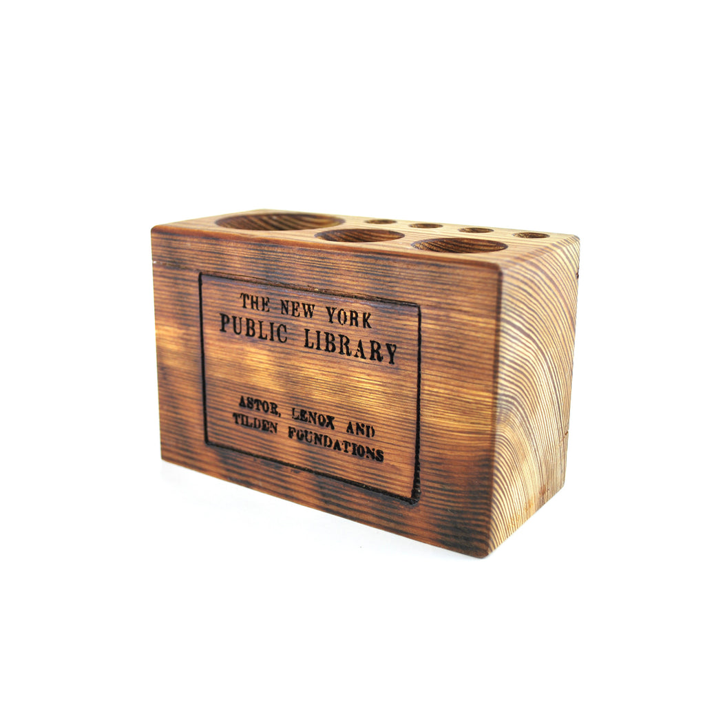 Medium NYPL Library Stamp Desk Caddy - The New York Public Library Shop