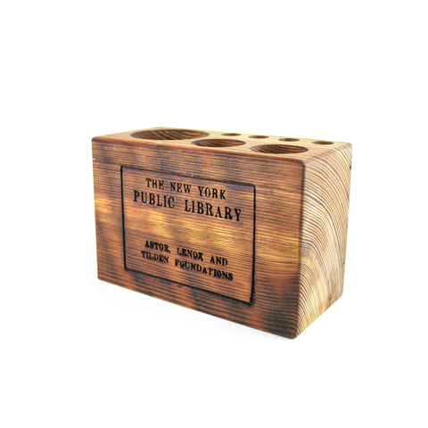 Medium NYPL Library Stamp Desk Caddy