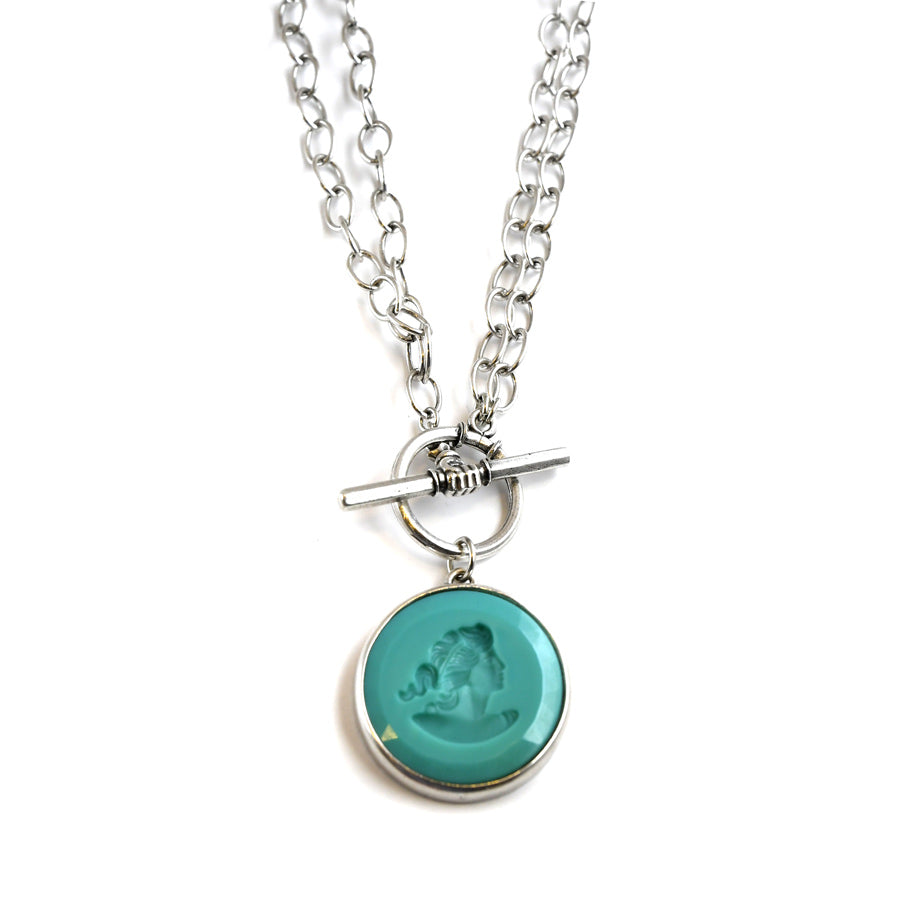 Mint Convertible Toggle Necklace - The New York Public Library Shop