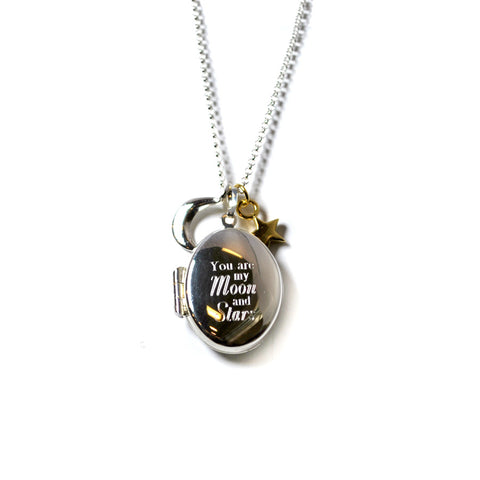 My Moon and Stars Locket Necklace