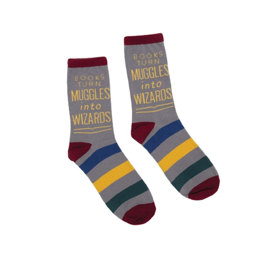 Books Turn Muggles into Wizards socks - The New York Public Library Shop