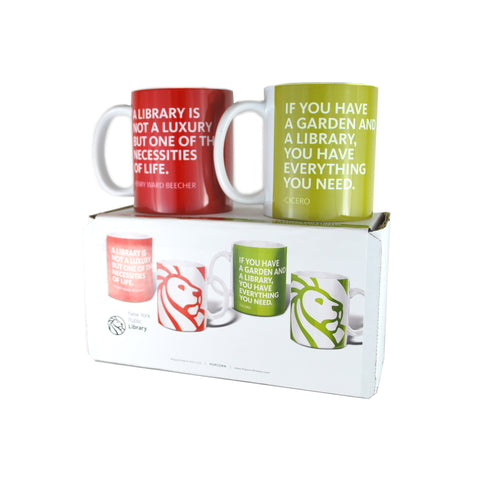 Library Quotes Mug Set - The New York Public Library Shop