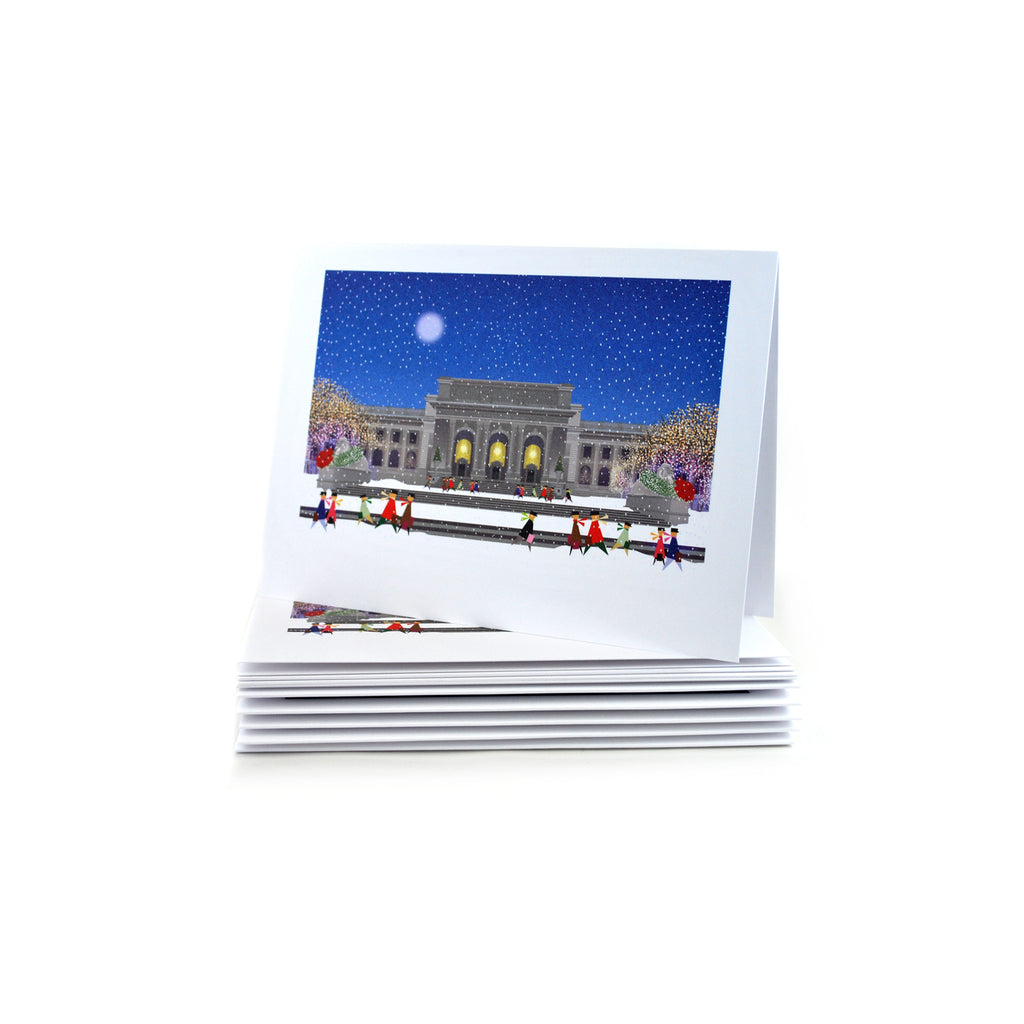 NYPL Building Holiday Card Set - The New York Public Library Shop