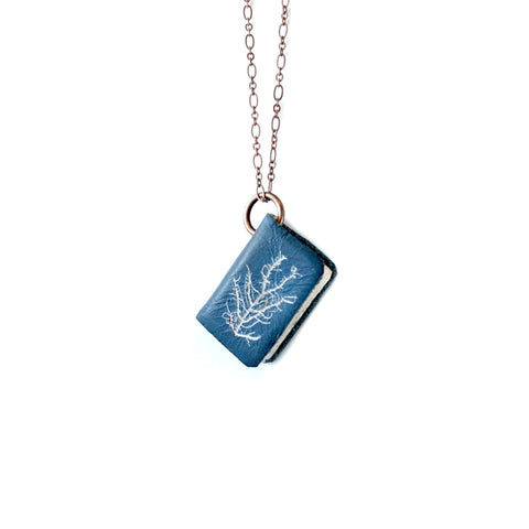 Large NYPL Anna Atkins Cyanotypes: Book Necklace