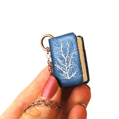 Anna Atkins Cyanotypes: Book Necklace - The New York Public Library Shop