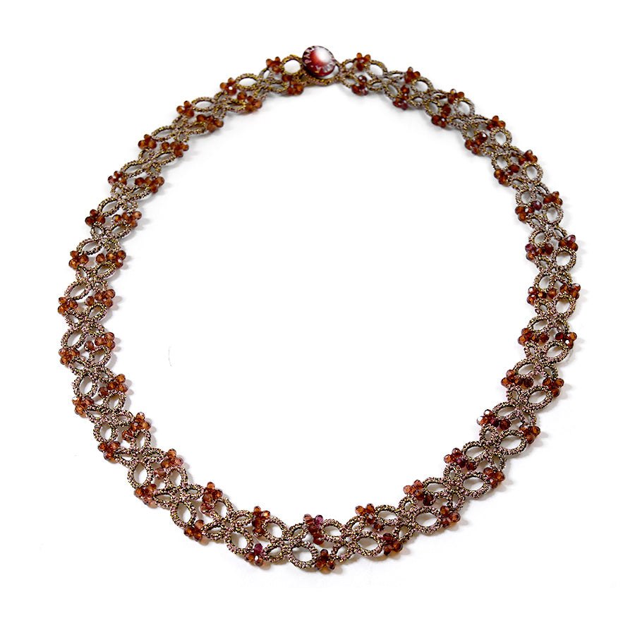 Lace Necklace: Olla in Garnet
