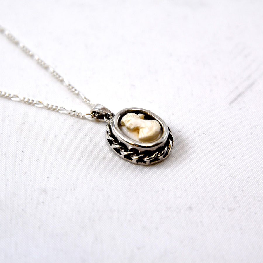 Tiny Cameo Necklace - The New York Public Library Shop