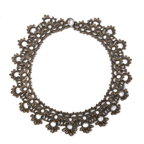 Lace Necklace: Grey Karina