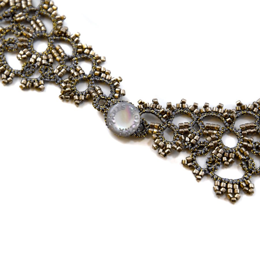 Lace Necklace: Grey Karina - The New York Public Library Shop