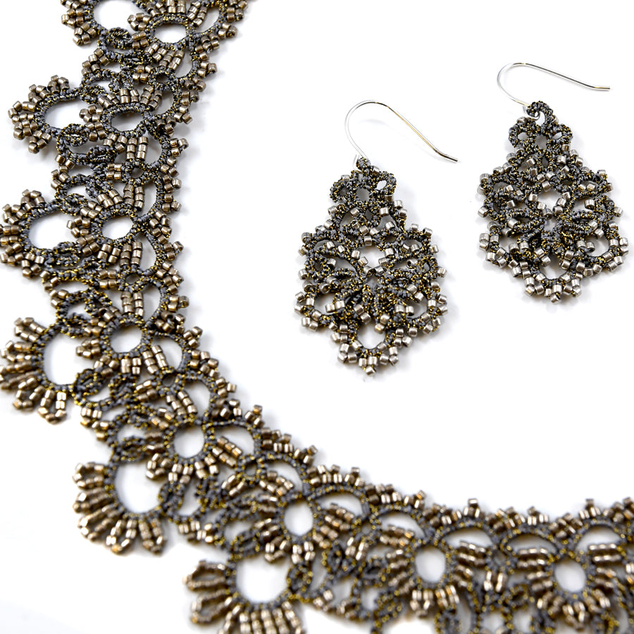 Lace Earrings: Concrete Dina - The New York Public Library Shop