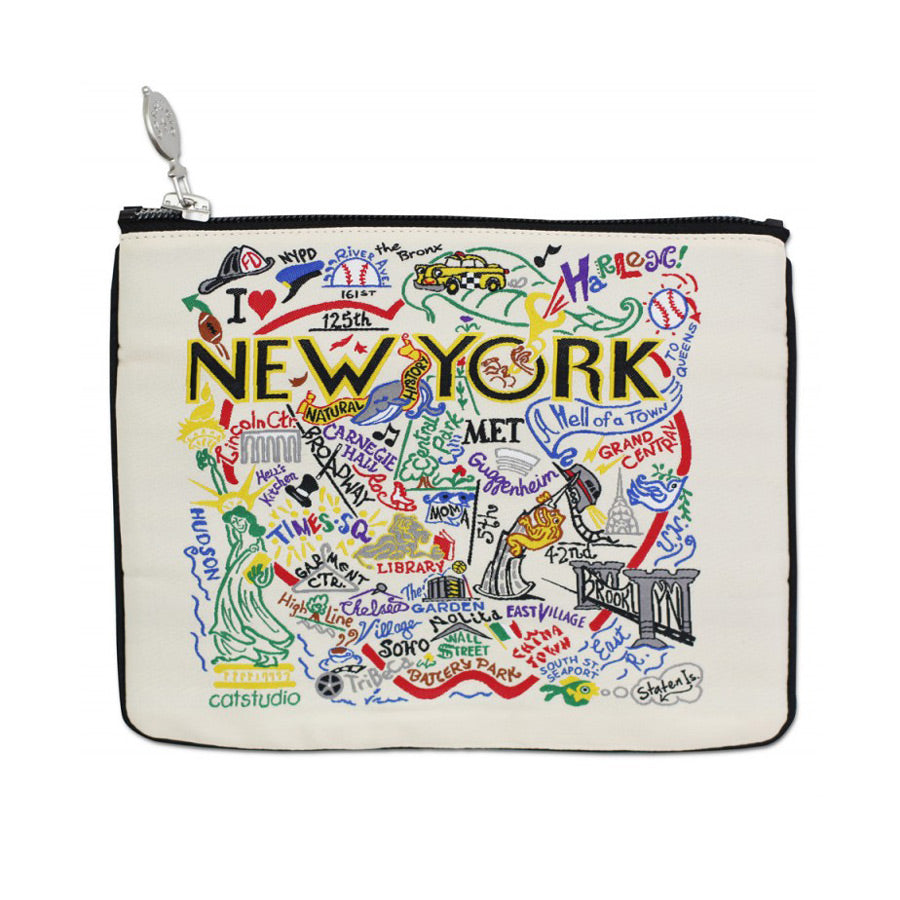 NYC Woven Pouch - The New York Public Library Shop