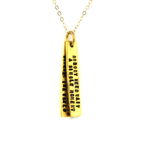 Anne Frank Quote Necklace