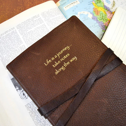 Life is a Journey Leather Journal