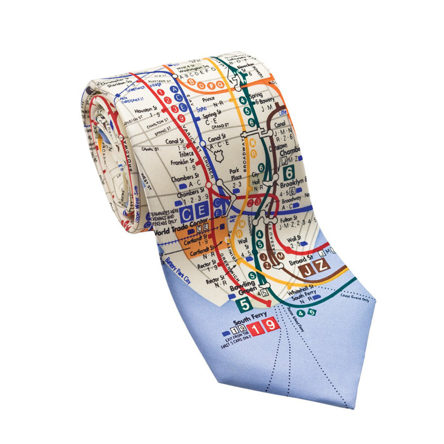 MTA Subway Map Tie - The New York Public Library Shop