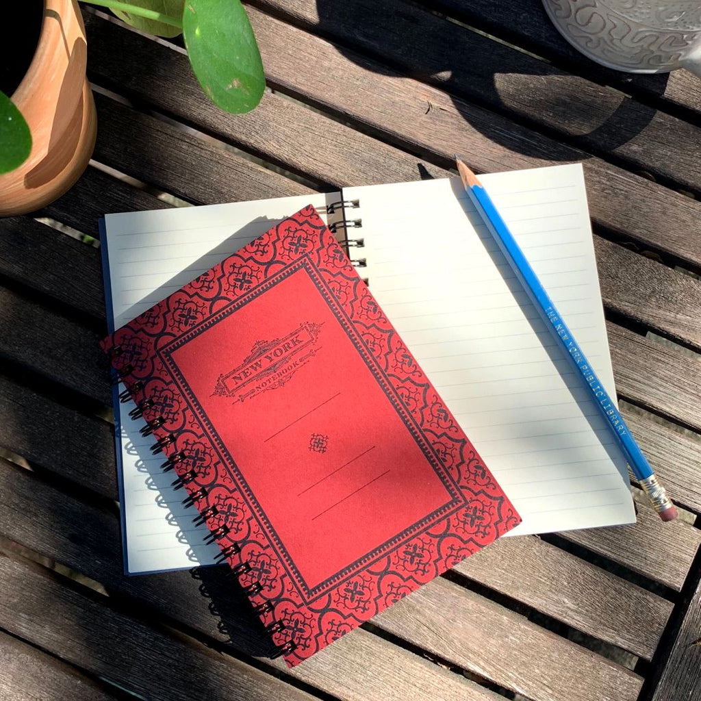 Spiral Bound New York Notebook: Red