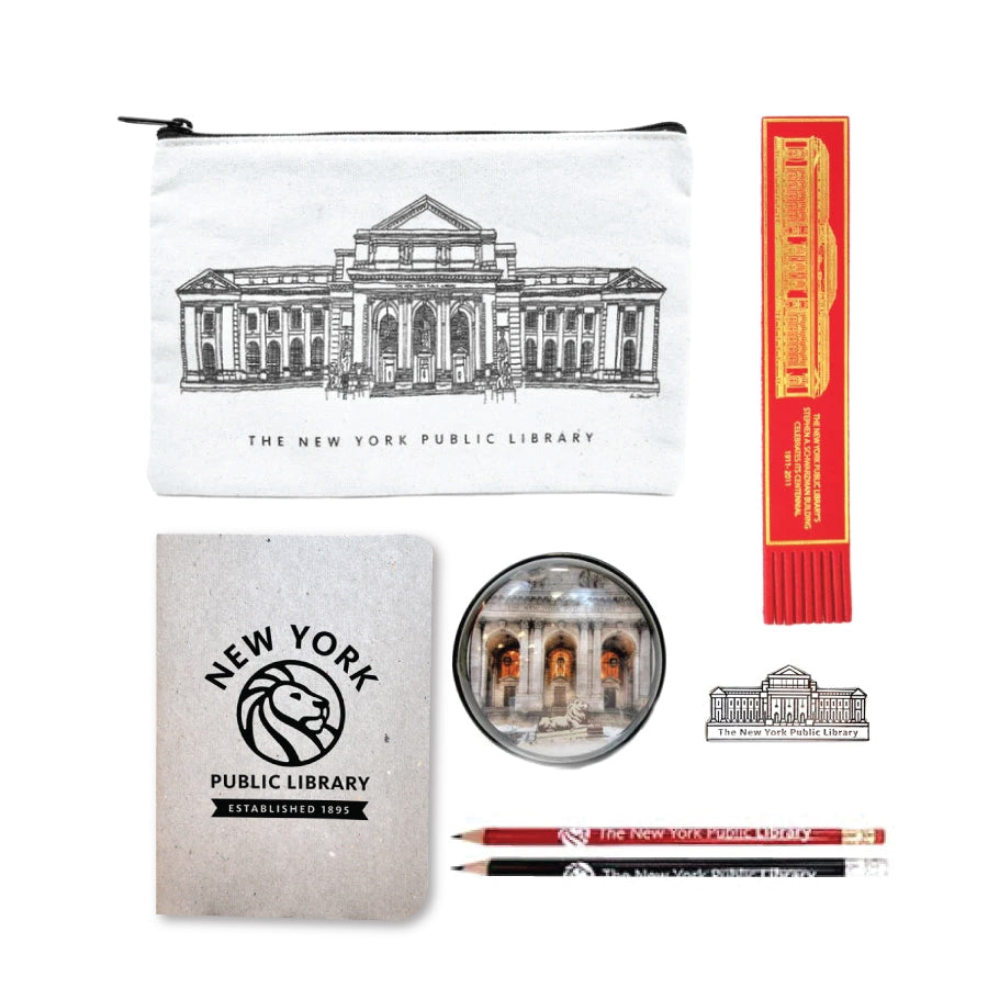 NYPL Building Pouch Gift Set