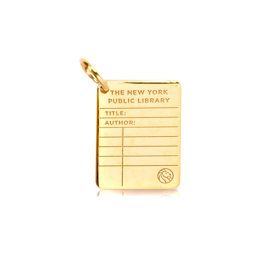 Gold NYPL Library Card Charm - The New York Public Library Shop