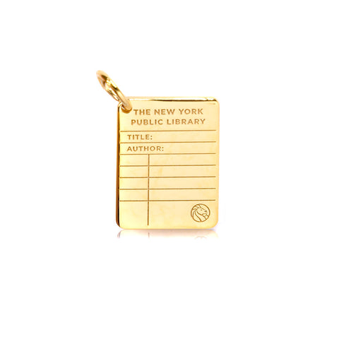 Gold NYPL Library Card Charm