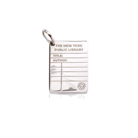 Silver NYPL Library Card Charm