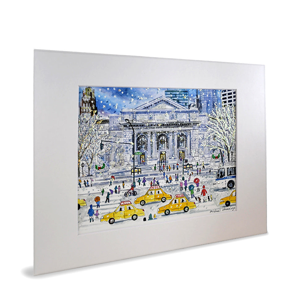 Michael Storrings' Glittered NYPL Print - The New York Public Library Shop