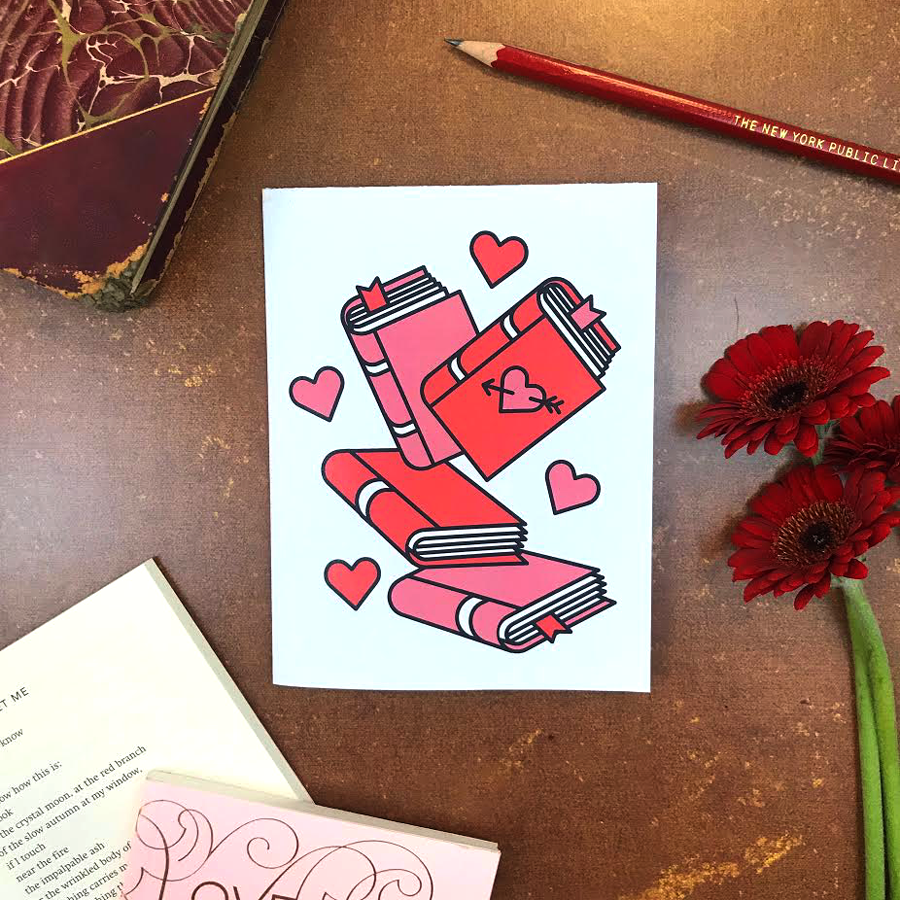 Valentine Books: Printable Greeting Card