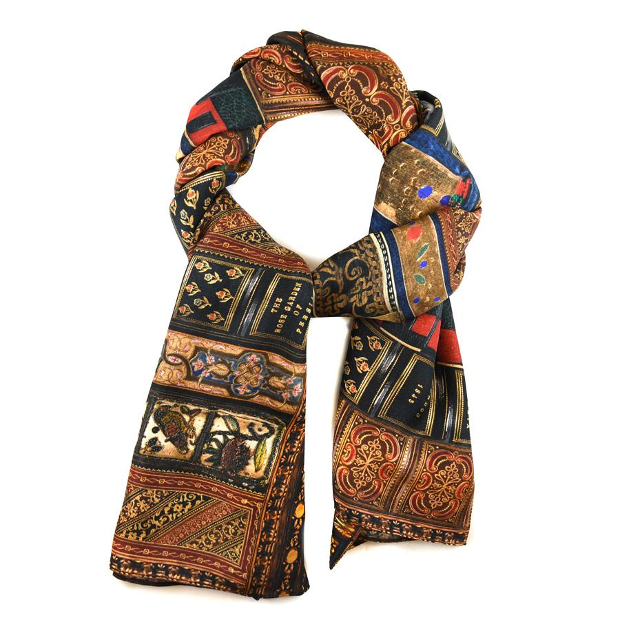 Oblong Spencer Bookbindings Silk Scarf - The New York Public Library Shop