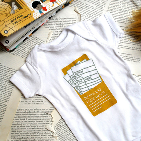 NYPL Library Card Onesie