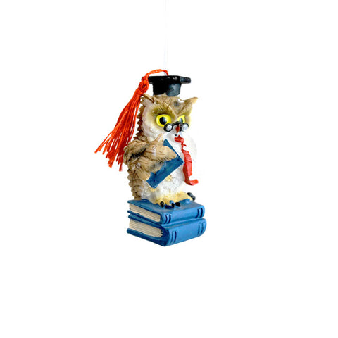 Owl Scholar Ornament