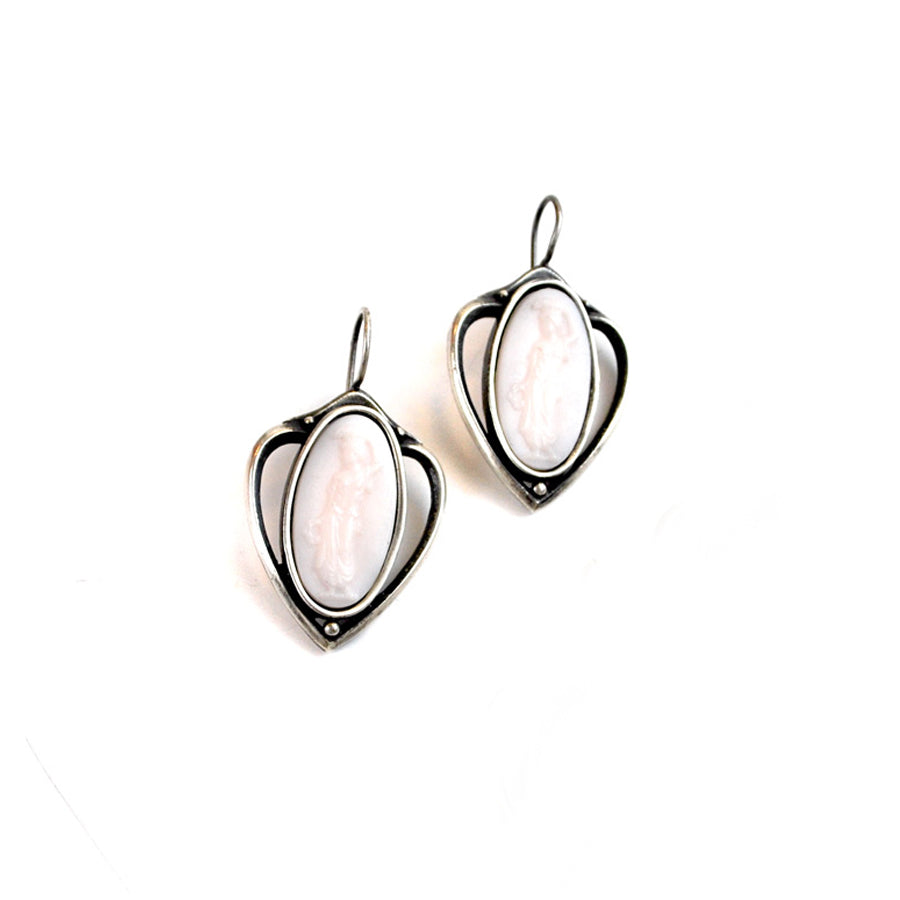 Pale Pink Intaglio Earrings - The New York Public Library Shop