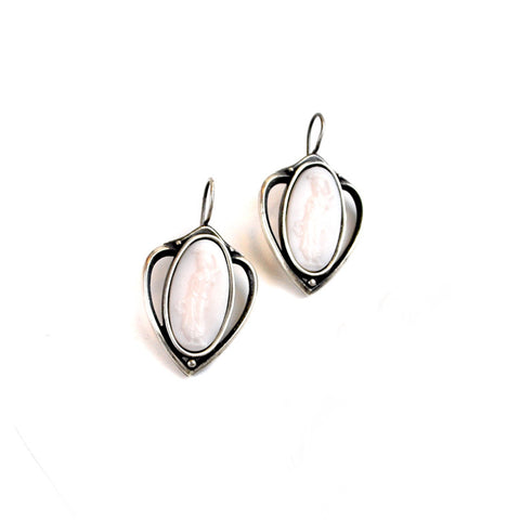 Pale Pink Intaglio Earrings