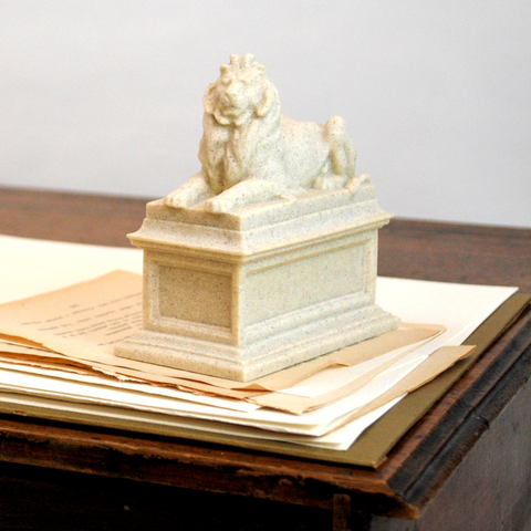 Library Lion Paperweight