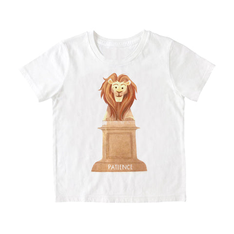 NYPL Patience and Fortitude Kids T-Shirt