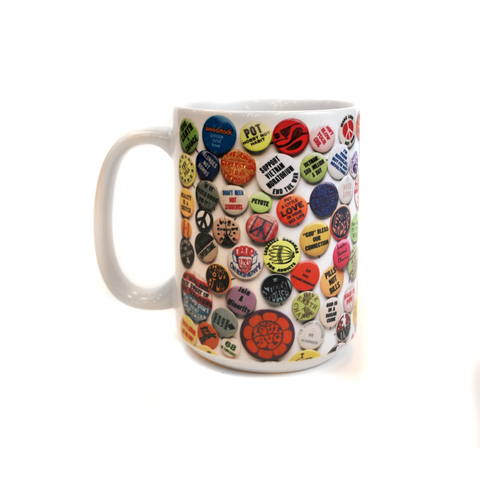 60's and 70's Button Mug