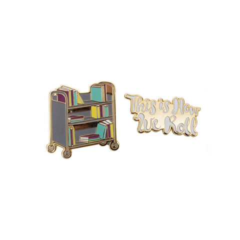 Book Cart Pin Set