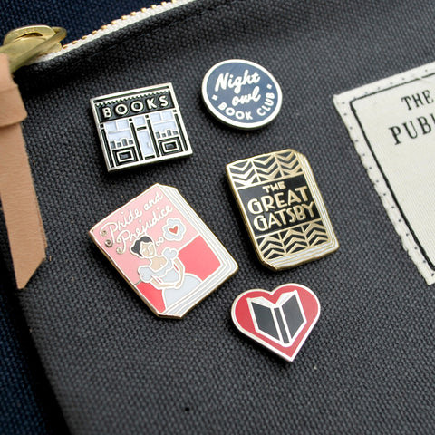 Night Owl Book Club Pin - The New York Public Library Shop