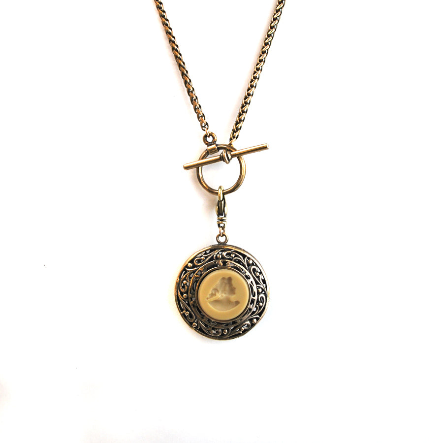 Jet Double Sided Pendent Necklace