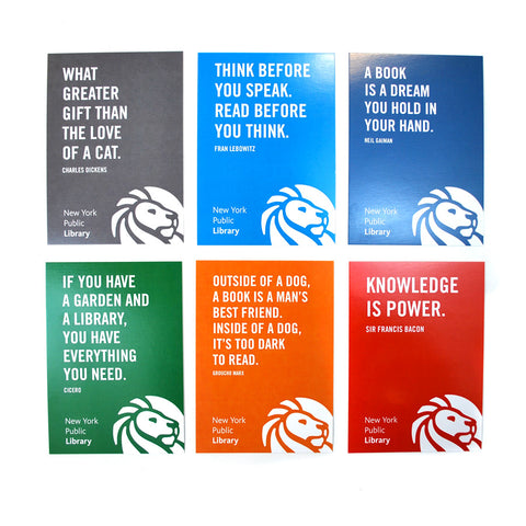 NYPL Bookish Quote Postcard Set