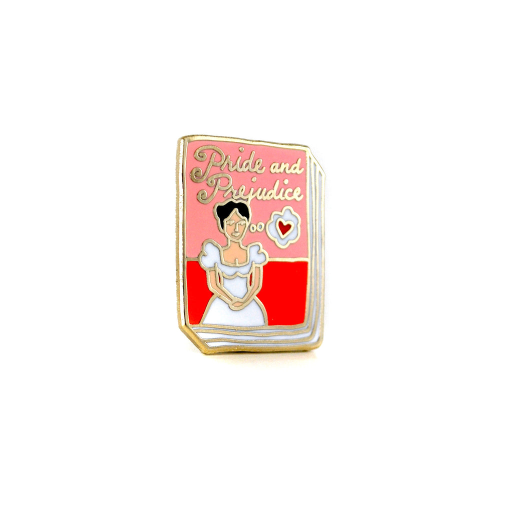 Pride and Prejudice Enamel Book Pin