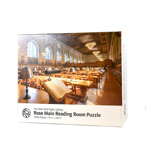 Puzzle features a photograph of the Rose Reading Room from the back left corner. No people in it.