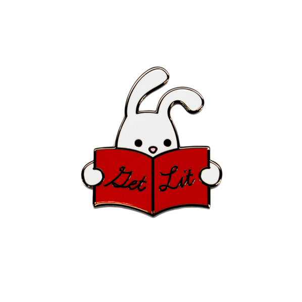 Reading Rabbit Pin - The New York Public Library Shop