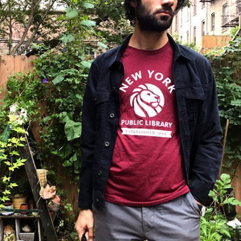 Red NYPL 1895 T-shirt